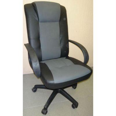 Офисное кресло Почин КР-15 черный матовый/серая перфорация