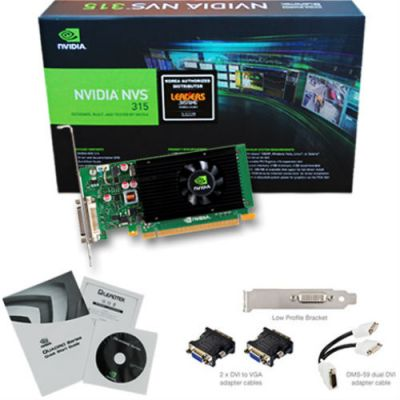 ���������� PNY Quadro NVS 315 PCI-E 1024Mb 64 bit (VCNVS315DP-PB)