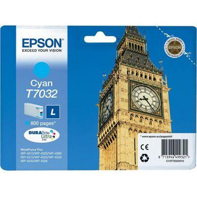Картридж Epson Cyan/Голубой (C13T70324010)