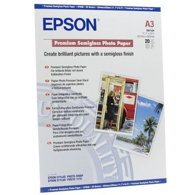 Расходный материал Epson Premium Semigloss Photo Paper A3 C13S041334