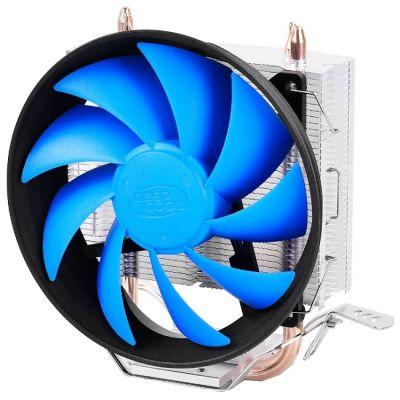 Кулер для процессора Deepcool GAMMAXX 200T (4пин, 775 / 1155 / AM2-FM2, 900-1600об / мин, 17.8-26.1 дБ, Al+тепл.трубки) (DP-MCH2-GMX200T)