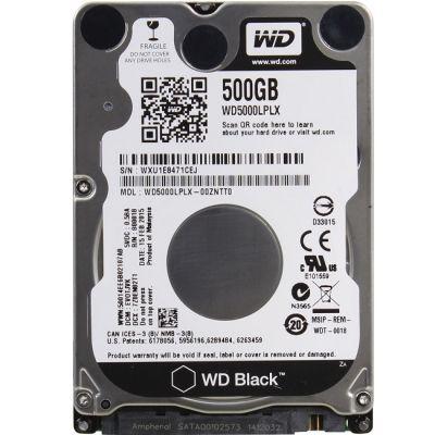 "Жесткий диск Western Digital SATA-III 500Gb Black (7200rpm) 32Mb 2.5"" WD5000LPLX"