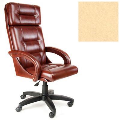 Офисное кресло Почин руководителя КР-7 (Слоновая кость, 3015) Коллекция Ecotex (матовые)