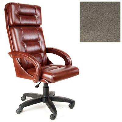 Офисное кресло Почин руководителя КР-7 (Темно-серый, 3022) Коллекция Ecotex (матовые)