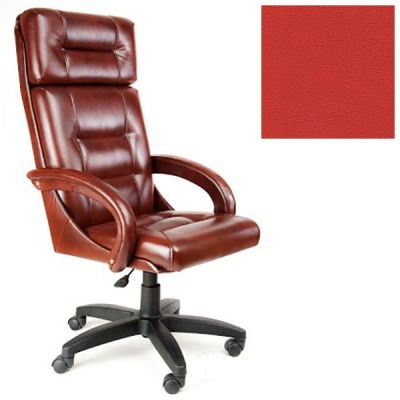 Офисное кресло Почин руководителя КР-7 (Вишневый, 3023) Коллекция Ecotex (матовые)