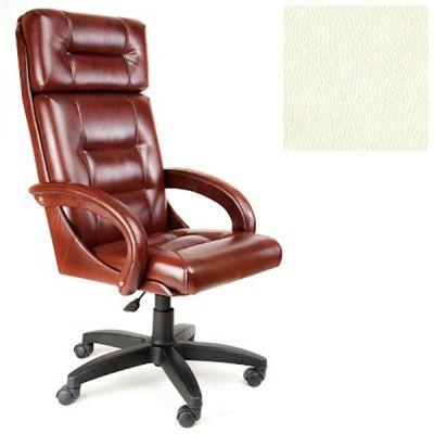 Офисное кресло Почин руководителя КР-7 (Слоновая кость, 3025) Коллекция Ecotex (матовые)