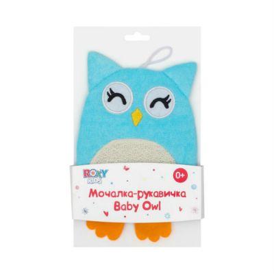 Roxy-Kids Махровая мочалка-рукавичка Baby Owl