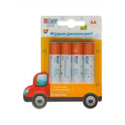 Батарейки Roxy-Kids Ultra Premium Digital , AA 4 шт. (блистер) - Машинка