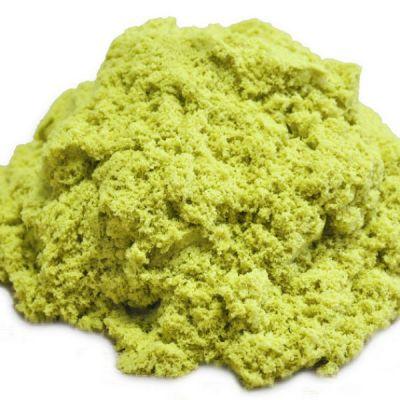 Космический песок пластичный стандартный комплект желтый 1 кг.