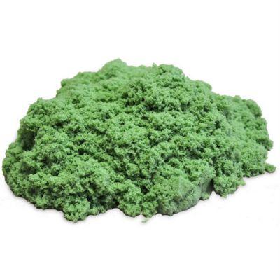 Космический песок пластичный, стандартный комплект зеленый 1 кг.