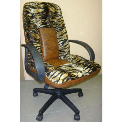 """Офисное кресло Почин КР-10 браун/ткань """"Тигр"""""""