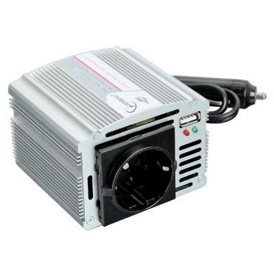 Gembird Инвертор автомобильный 200W в прикуриватель, 12v->220v I-200U