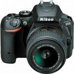 Зеркальный фотоаппарат Nikon D5500 черный VBA440K006