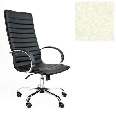 Офисное кресло Почин руководителя КР-18 (Слоновая кость, 3025) Коллекция Ecotex (матовые)