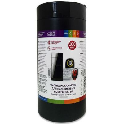 CBR Чистящие салфетки для пластиковых поверхностей CS 0030-100 (100 шт.), туба