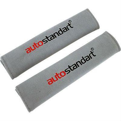 Autostandart Накладки на ремень безопасности (к-т 2 шт) серые 9186020