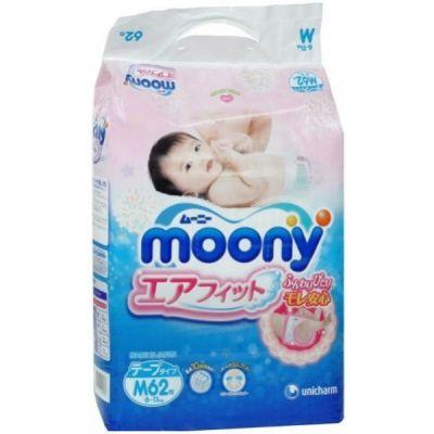 Moony Подгузники M, 6-11кг, 62шт.
