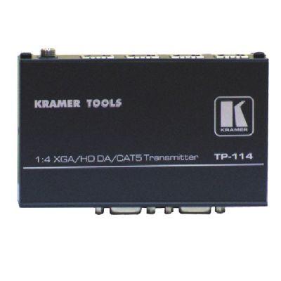 Kramer Передатчик VGA/YUV по витой паре с 4 выходами; проходной выход VGA TP-114