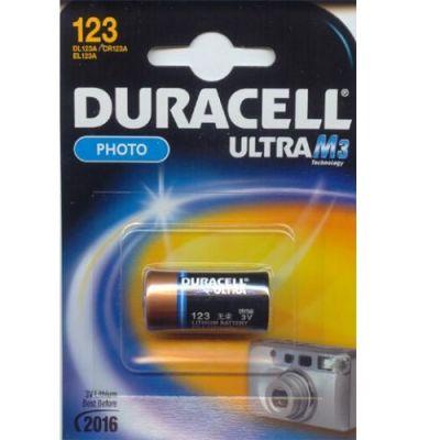 Батарейки Duracell Ultra CR123A (1шт.уп.)