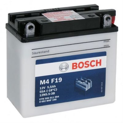 Bosch Аккумулятор для мототехники 6Ah 12V 506 011 004 A504 FP (M4F190) 9187740