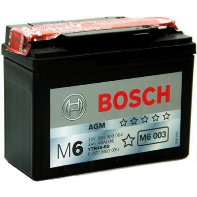 Bosch Аккумулятор для мототехники (3Ah) 12V 503 903 004 A504 AGM (M60030) 9187735
