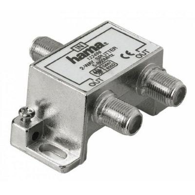 Hama Антенный разветвитель (КРАБ) 1->2 F-штекер (f) 5-860 МГц 75 Ом металл H-122496