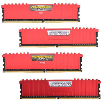 Оперативная память Corsair DDR4 4x4Gb 3200MHz RTL PC4-25600 CMK16GX4M4B3200C16