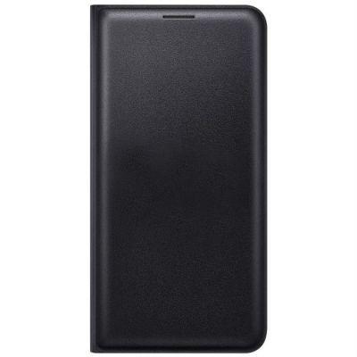 Чехол Samsung (флип-кейс) для Galaxy J7 (2016) Flip Wallet черный (EF-WJ710PBEGRU)