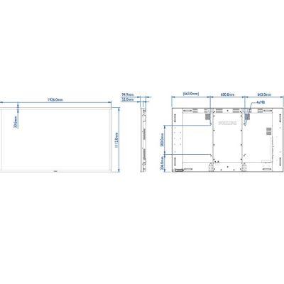 LED панель Philips BDL8470QT/00 , 10 точек касания, слот OPS
