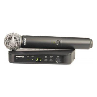 Радиосистема Shure вокальная BLX24E/SM58 K3E с капсюлем динамического микрофона SM58
