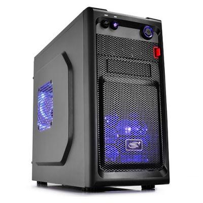������ Deepcool mATX / mini-ITX, ��� ��, 1x USB 3.0, 1x USB 2.0, 2x 12cm Blue LED fan SMARTER LED