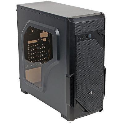 Корпус Aerocool ATX, без БП, 2 x USB2.0 + 1 x USB3.0, в комплекте 1 x 120 мм вент-р Vs-1 Window