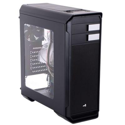 ������ Aerocool ��������� SD/micro SD , ATX, 1x USB 3.0, 2x USB 2.0, 2� �������, ������� �� ����, ����. Aero-500 Window Black