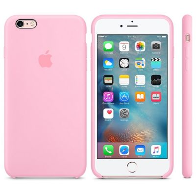 Чехол Apple iPhone 6 Plus/6s Plus Silicone Case - Light Pink MM6D2ZM/A