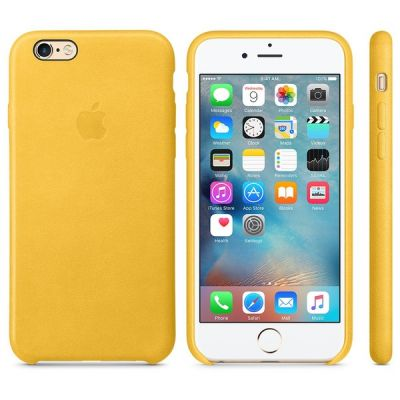 Чехол Apple iPhone 6/6s Leather Case - Marigold MMM22ZM/A