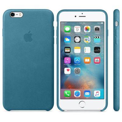 Чехол Apple iPhone 6 Plus/6s Plus Leather Case - Marine Blue MM362ZM/A