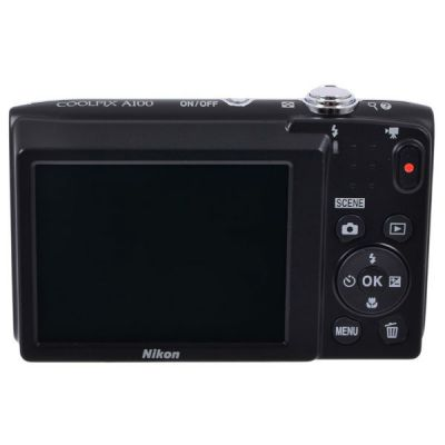 Компактный фотоаппарат Nikon CoolPix A100 (серебристый) VNA970E1