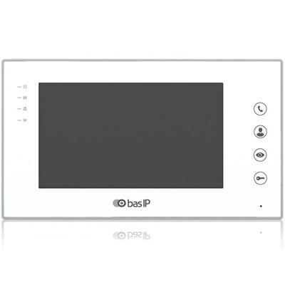 Монитор домофонов BAS-IP AR-07L v3 (белый)