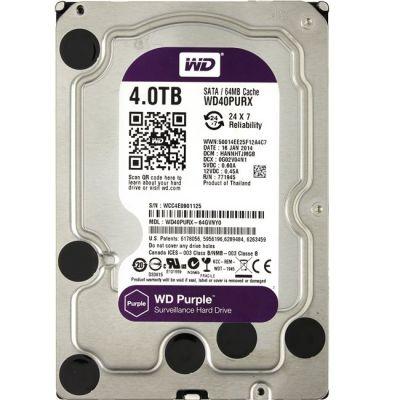 """������� ���� Western Digital 4 Tb SATA 6Gb/s Purple 3.5"""" 64Mb WD40PURX"""
