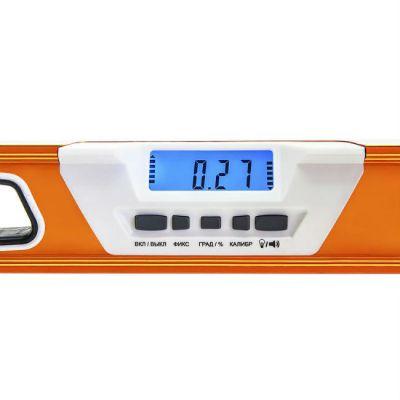Практика Уровень строительный цифровой серия Эксперт 600 мм, профиль 28 x 66 мм, 2 глаз, 1 ручка, точность 0,5 мм/м 242-847