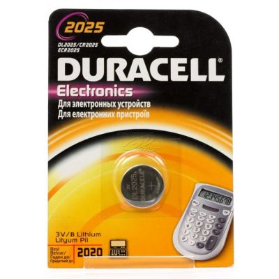 Батарейки Duracell DL2025 CR2025 (1шт/уп.)