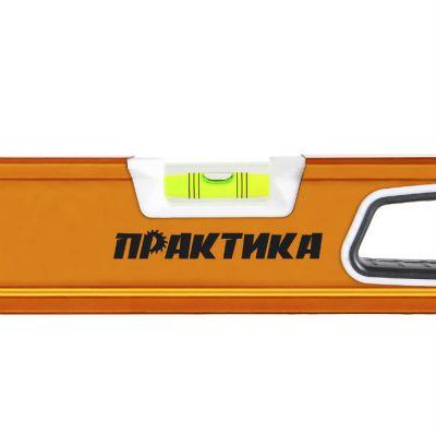 Практика Уровень строительный серия Эксперт, 600 мм, профиль 28 x 66 мм, 3 глаз, 2 ручки, V- паз 242-700