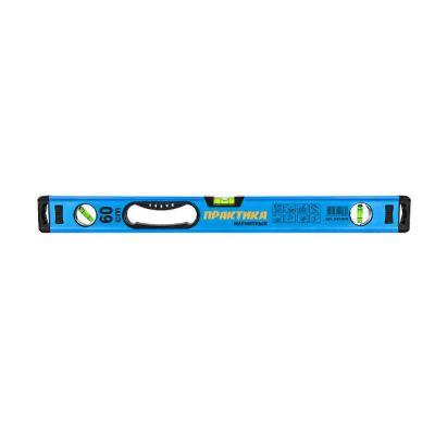 Практика Уровень строительный серия Профи, 600 мм, профиль 25 x 60 мм, 3 глаз, 1 ручка, точность 0,5 мм/м, магнит 242-830