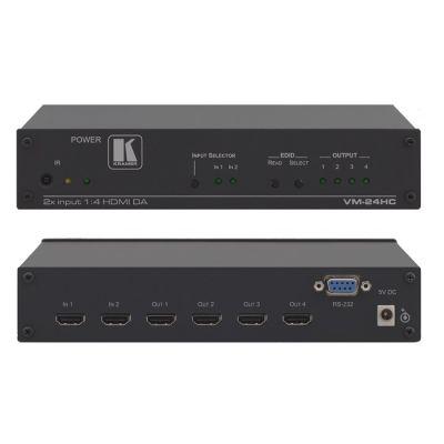 Kramer Усилитель-распределитель 1:4 HDMI с коммутатором 2х1 VM-24HC