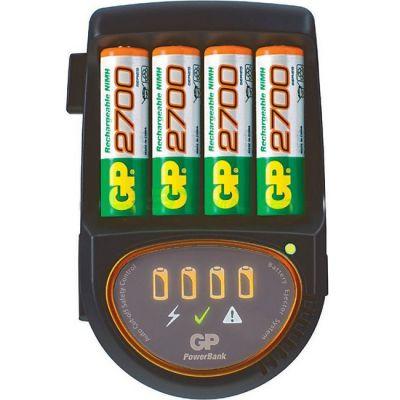 GP Аккумулятор + зарядное устройство PowerBank PB50GS270CA + car cord + 2700mAh AA (4шт. уп) PB50GS270CA-2CR4