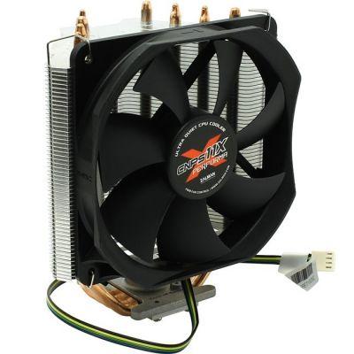 Кулер для процессора Zalman 4пин, 775 / 1155 / 1366 / 2011 / AM2 / AM3 / FM1, 17-26дБ, 1000-1600 об / м, Al+теп.трубки CNPS11X Performa (+)