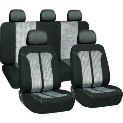 Чехол на сиденья автомобиля Forra JX-121040, комбинированные ПЭ+жаккард 9135697