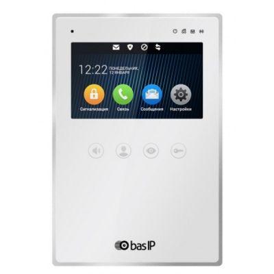 Монитор домофонов BAS-IP AZ-04 W v3