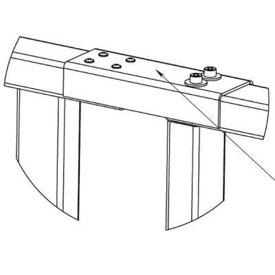 PERCo RF01 0-06 накладка верхняя