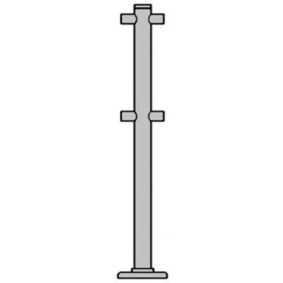 РостЕвроСтрой ОС1/2-2-180 ХРОМ стойка ограждения стационарная